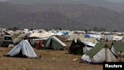 Kamp sementara para pengungsi Pakistan di provinsi Khost (2/7).