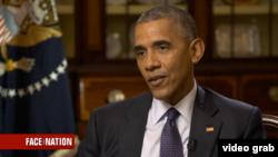 Le président des États-Unis Barack Obama, lors d'un entretien sur la chaîne télévisée américaine CBS, le 24 juillet 2016.