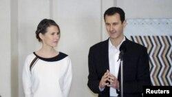 بشار اسد و همسرش اسما - آرشیو