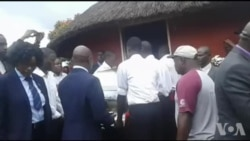 Mourners Carrying Morgan Tsvangirai's Body to His Final Resting Place