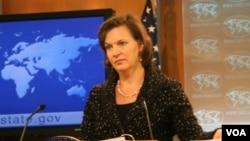 빅토리아 눌런드 미국 국무부 대변인. (자료사진)