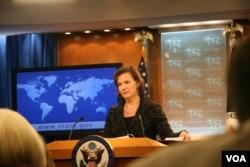 美国国务院发言人卢岚(张蓉湘拍摄)