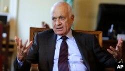 Sekretaris jenderal Liga Arab Nabil al-Arabi menghadiri pertemuan Uni Eropa di Brussels, Belgia (foto: dok0.