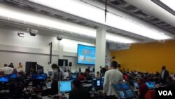 Ruangan yang disediakan bagi awak media dalam Sidang Umum PBB (foto: VOA/Eva Mazrieva).