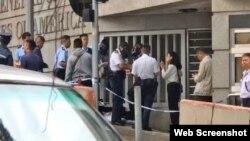 香港警方协助调查美总领事馆白色粉末事件(苹果日报图片)