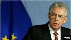Mario Monti menggantikan Silvio Berlusconi sebagai PM baru Italia (13/11).