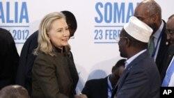 希拉里克林頓與索馬里臨時政府負責人會晤
