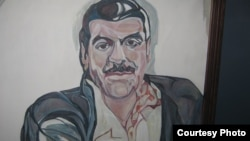 Портрет Довлатова неизвестного художника