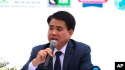 Ông Nguyễn Đức Chung thời còn là Chủ Tịch Hà Nội.