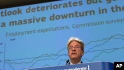 Komisioneri Evropian për Eknominë, Paolo Gentiloni, duke paraqitur për mediat parashikimin ekonomik të verës 2020
