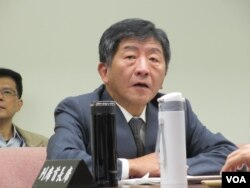 台湾卫福部长陈时中(美国之音张永泰拍摄)
