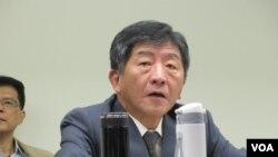 台灣衛福部長陳時中(美國之音張永泰拍攝)