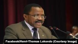 Mokeli mobeko Henri-Thomas Lokondo akufi, photo ya le 15 octobre 2015. (Facebook/Henri-Thomas Lokondo)