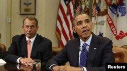 Tổng thống Hoa Kỳ Barack Obama họp với các nhà lãnh đạo Quốc hội về vấn đề kinh tế tại Tòa Bạch Ốc, ngày 16/11/2012