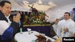 El presidente Hugo Chávez pidió por que Dios le dé más tiempo de vida, en Barinas, su ciudad natal.