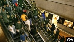Sistem transportasi kereta api bawah tanah di Washington, DC.