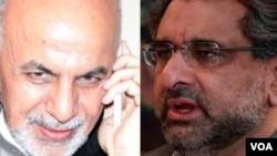 محمد اشرف غنی، رئیس جمهور افغانستان و شاهد خاقان عباسی، صدراعظم جدید پاکستان