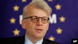 FILE - Ambassador Hansjoerg Haber, Dec. 22, 2009. The top EU ambassador to Turkey has resigned less than a year after beginning the job.