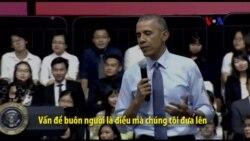TT Obama nói TPP giúp tạo ra biện pháp ngăn chặn nạn buôn người