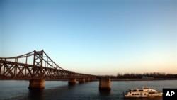단둥에 위치한 중-북 연결 다리