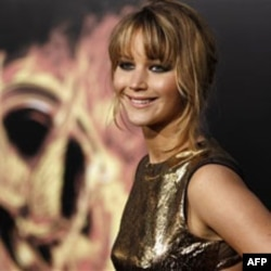 "Jennifer Lawrence attends the world premiere of ""The Hunger Games"" in Los Angeles, California"