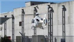 امدادگران با هلیکوپتر به کمک زخمی شدگان در نیروگاه اتمی مارکول شتافتند. ۱۲ سپتامبر ۲۰۱۱