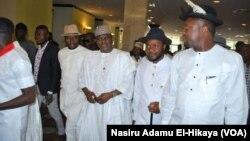 Des membres de la communauté Ijaw à Abuja, le 15 novembre 2017. (VOA/Nasiru Adamu El-Hikaya)
