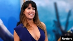 "Director of the movie Patty Jenkins poses at the premiere of ""Wonder Woman"" in Los Angeles, California, May 25, 2017."