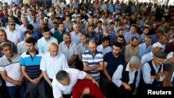 Gaziantepdagi xurujda halok bo'lganlar dafn marosimi, 21-avgust, 2016-yil