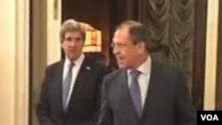 Menlu AS John Kerry dan Menhan AS Chuck Hagel akan bertemu dengan Menlu Rusia Sergei Lavrov dan Menhan Rusia Sergei Shoigu, hari ini di Washington (Foto: dok).