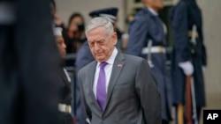 Le secrétaire américain à la Défense, Jim Mattis, au Pentagone, le 9 novembre 2018. (Photo AP / Pablo Martinez Monsivais)