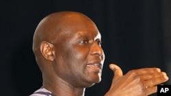 Olara Otunnu, leader of the Uganda People's Congress (UPC)