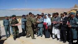 افتتاح تعمیرمرکزهماهنگی واوپراتیفی نیروهای امنیتی دربامیان