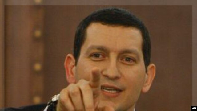 Syria's Foreign Ministry spokesman Jihad Makdissi speaks during a press conference in Damascus, Syria, Dec. 5, 2011.