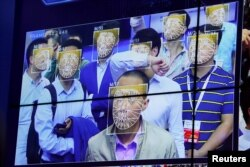 2017年10月30日在深圳中国公共安全博览会期间的面部识别技术
