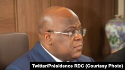 Président Félix Tshisekedi na likita, na visioconférence, G20, liboke lya bikolo bya nkita koleka na molongo, 21 mai 2021. (Twitter/Présidence RDC_