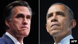共和與民主兩黨的總統候選人﹕羅姆尼(左)與奧巴馬(右)