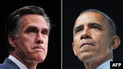 Republikanski predsednički kandidat Mit Romni i demokratski predsednik Barak Obama