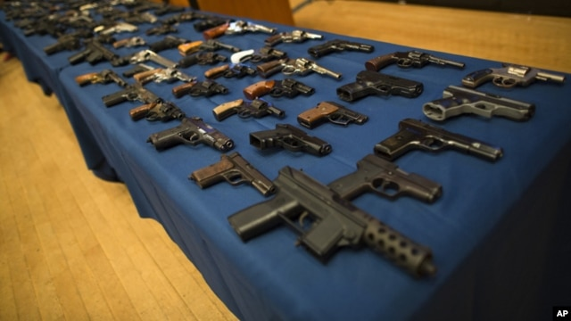Confiscated illegally trafficked weapons. (file)