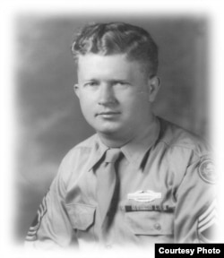 An undated family photo of U.S. Army Master Sergeant Roddie Edmonds, of the 422nd Infantry Regiment. (Courtesy: Chris Edmonds via Yad Vashem)