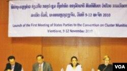 Pertemuan delegasi internasional soal bom rumpun di Laos.