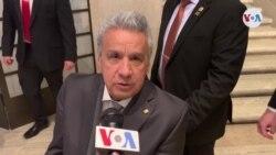"""Presidente Moreno: """"Debemos incentivar que Venezuela recupere su libertad"""""""