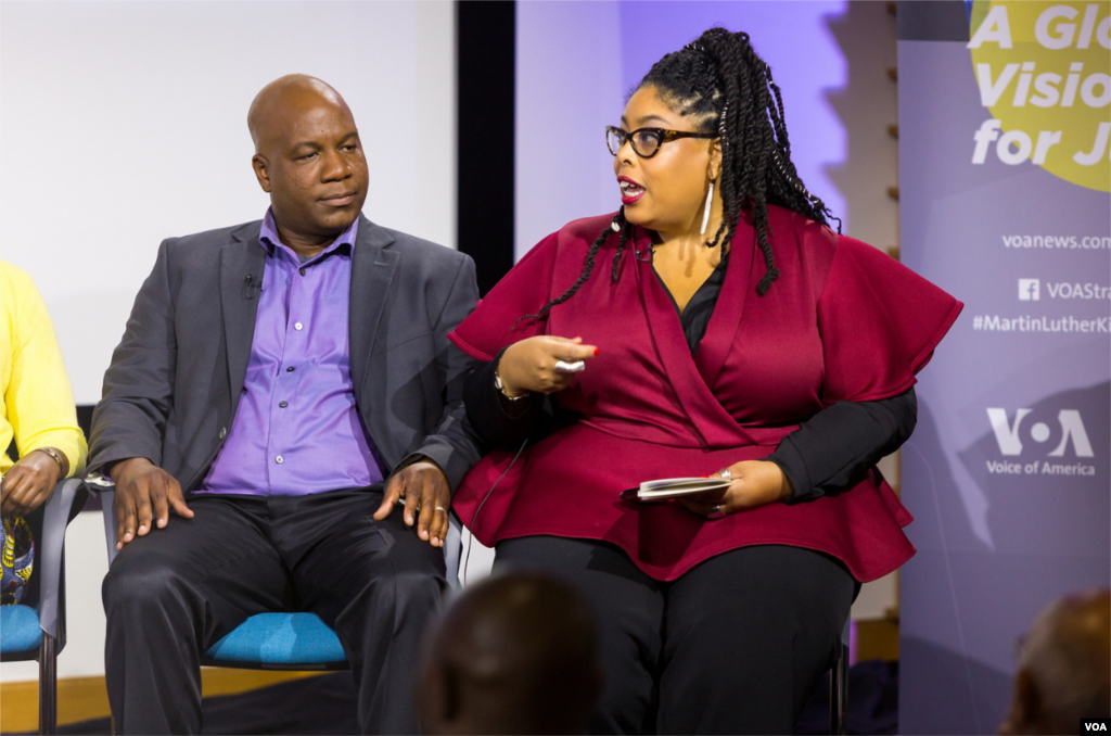 Dr. Sherri Williams (right) is an Associate Professor at American University School of Communication. She is an award winning journalist and media researcher whose work focuses on how marginalized groups, especially women of color, are portrayed in the media.