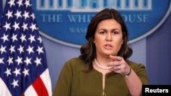 La portavoz de la Casa Blanca, Sarah Huckabee Sanders, expresa optimismo sobre acuerdo por presupuesto de EE.UU.