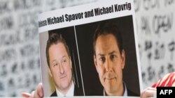 Warga Kanada yang ditahan China, Michael Spavor (kiri) dan Michael Kovrig. (Foto: dok).