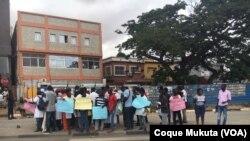 """Manifestaçãode estudantes em Luanda contra """"gasosa"""""""