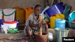 Mtoto katika kambi ya walopoteza makazi yao ya Yola, jimbo la Adamawa.