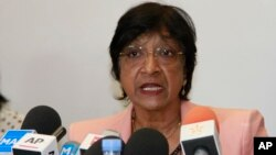 Navi Pillay, alta comisionada para los Derechos Humanos de la ONU se despidió del Consejo de Derechos Humanos.
