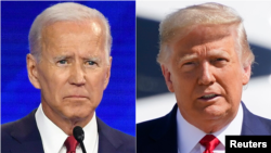 Joe Biden dan Donald Trump. (Foto: Reuters)