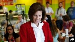 La démocrate Catherine Cortez Masto en campagne dans le Navada, à Las Vegas le 31 mai 2016.